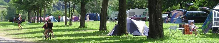 Vue générale du Camping La Vernede en Cevennes